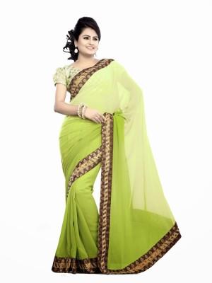 Elegant Fashion Embriodered Bollywood Handloom Chiffon Sari