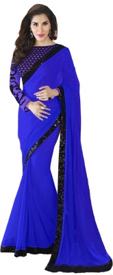 Kanha Fashionna Plain Bollywood Georgette Sari
