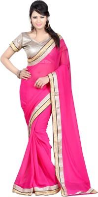 Krisha Enterprise Self Design Bollywood Georgette Sari