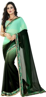 Gopal Retail Embriodered Bollywood Georgette Sari