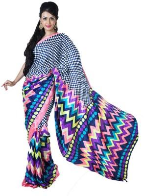 SSMITN Printed Fashion Crepe Sari