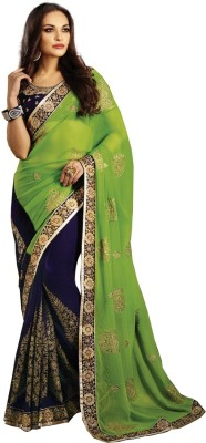 Renishafashion Embriodered Fashion Chiffon Sari