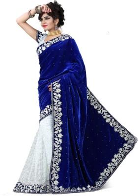 Indian Pahnaav Embellished Bollywood Velvet Sari