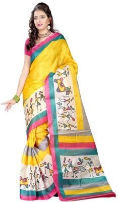 Henna Trendz Printed Fashion Poly Silk Sari