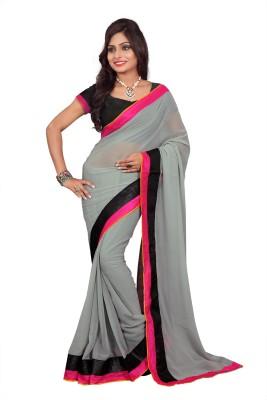 Sixmeter Plain Fashion Chiffon Sari