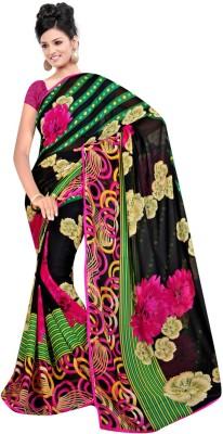 Maxusfashion Striped Bollywood Georgette Sari