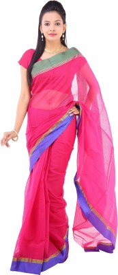 Rangoli Designs Solid Fashion Cotton Sari