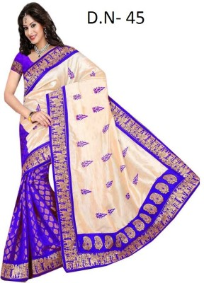 Mamta Sarees Embriodered Bollywood Synthetic Sari