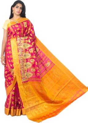 Alankrita Self Design, Woven Kanjivaram Art Silk, Jacquard Sari