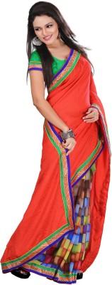 Madhuban Self Design, Printed, Geometric Print Fashion Synthetic Georgette Sari
