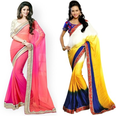 Dharmaproducts Embriodered Bollywood Georgette Sari