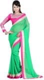 Jhalak Self Design Bollywood Chiffon Sar...