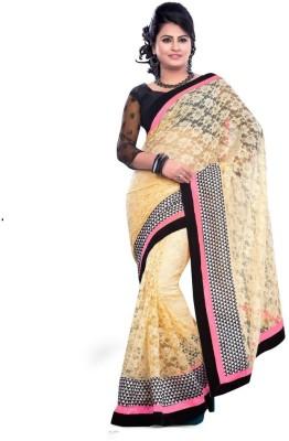 Porcupine Self Design Bollywood Net Sari