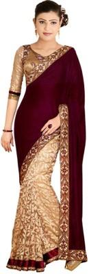 NVR Creation Embriodered Bollywood Brasso Sari