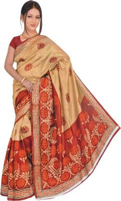 Lata Printed Daily Wear Silk, Cotton Sari
