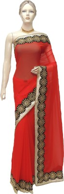 Veena Saree Plain Bollywood Georgette Sari