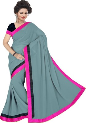 Mamta Synthetic Plain Bollywood Handloom Art Silk Sari