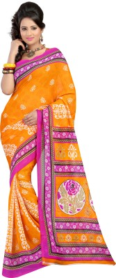 Carah Self Design Daily Wear Georgette Sari
