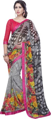 Admyrin Floral Print Daily Wear Georgette Sari