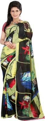 Parishi Fashion Printed Bollywood Silk Sari