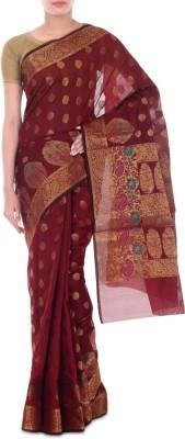 Paradise Fashion Woven Banarasi Handloom Chanderi Sari