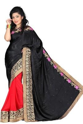 Murli Manohar Fashions Embriodered Bollywood Handloom Velvet Sari