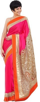 Chamunda Enterprise Embriodered Bollywood Net, Georgette Sari