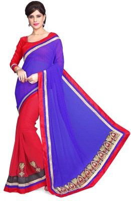 Sourbh Sarees Embriodered Fashion Chiffon, Georgette Sari