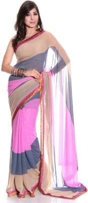 Shree Sidh Plain Bollywood Chiffon Sari