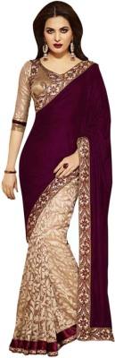 Kuki Fashion Embriodered Bollywood Velvet Sari