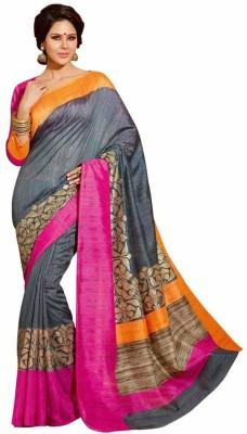 First Lady Printed Bhagalpuri Art Silk Sari