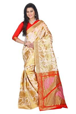 Azara Lifestyle Embellished Kanjivaram Silk Cotton Blend Sari