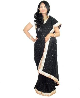 Lattice Embriodered Fashion Pure Chiffon Sari