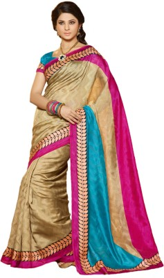 Tagbury Self Design Bhagalpuri Tussar Silk Sari