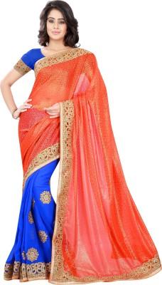 V-Karan Embriodered Fashion Chiffon Sari