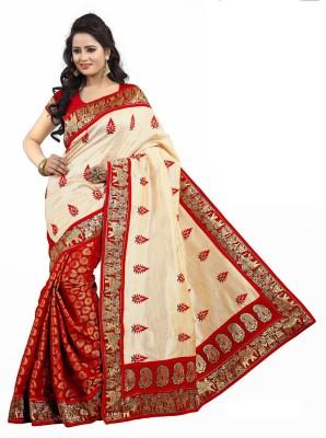 Shraddha Fashion Embriodered Bollywood Chanderi, Cotton, Art Silk Sari