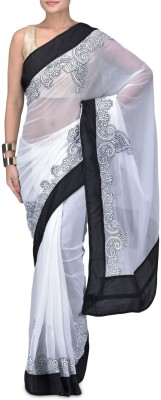 Manglam Sarees Embriodered Bollywood Chiffon Sari