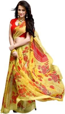 Gerbera Designer Printed Fashion Georgette Sari