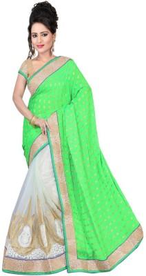 Nidhik Embriodered Fashion Banarasi Silk Sari