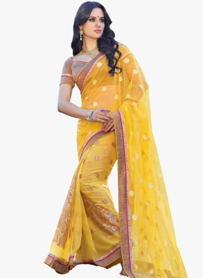 Vishal Prints Embriodered Fashion Net Sari