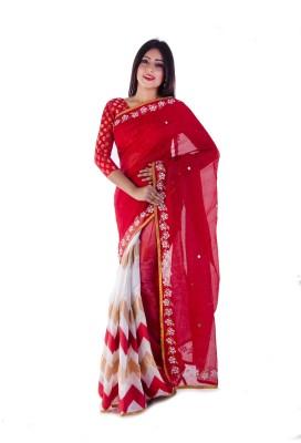 Aryya Self Design Chanderi Chanderi, Cotton Sari