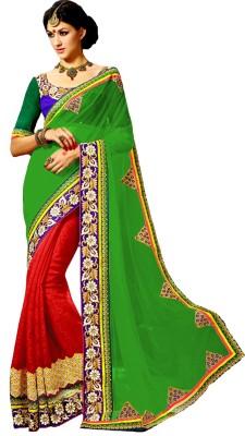 AKSH FASHION Embriodered Bollywood Georgette Sari