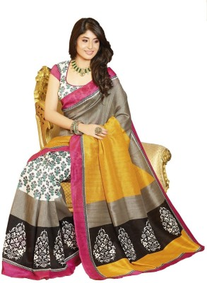 Aanaya Fashions Embriodered Bhagalpuri Art Silk Sari