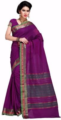 EvaFashion Plain Fashion Handloom Cotton Linen Blend Sari