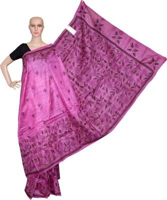 Prateeti Embriodered Kantha Handloom Pure Silk Sari