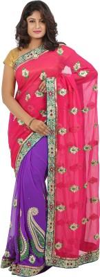 Jasmine Silk Embriodered Fashion Georgette Sari