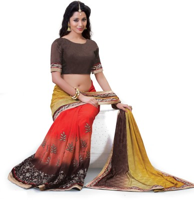 Laajjo Embriodered Fashion Chiffon Sari