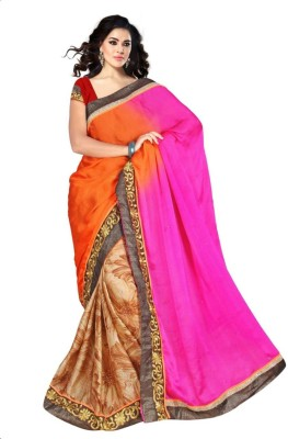 Alliance Fashion Floral Print, Printed Daily Wear Satin Sari