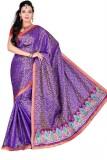 Pure Silk Self Design Daily Wear Synthet...