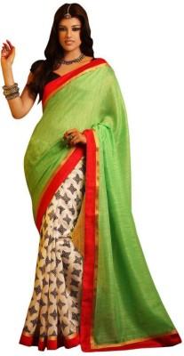 The Ethnic Chic Printed Fashion Banarasi Silk Sari